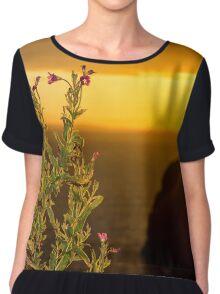 virgin rock and wild flowers sunset Chiffon Top