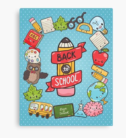 Back to School Canvas Print
