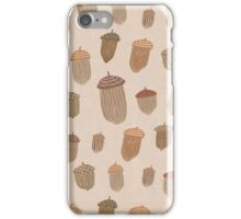 Autumnal Acorns iPhone Case/Skin