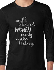 Marilyn Monroe Strong Women Quote Long Sleeve T-Shirt
