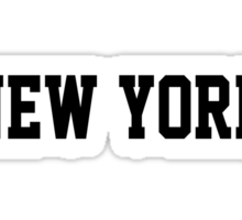 New York Jersey Black Sticker