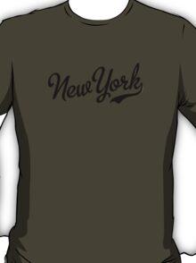 New York Script Black T-Shirt
