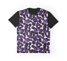 Watercolor Deep Purple Polka Dots Graphic T-Shirt