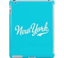 New York Script White iPad Case/Skin