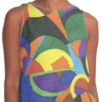 A colourful abstract design Contrast Tank