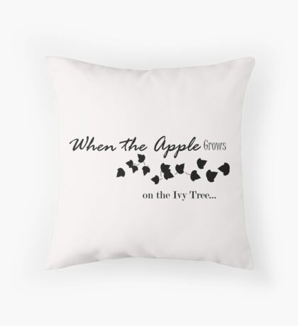 Apple Black Ivy Tree Throw Pillow