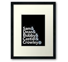 Supernatural Helvetica Framed Print