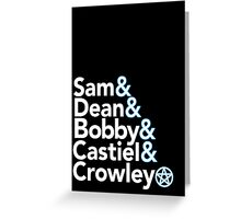 Supernatural Helvetica Greeting Card