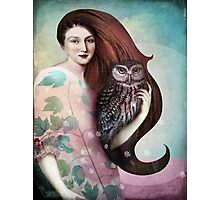 She and her Owl Photographic Print