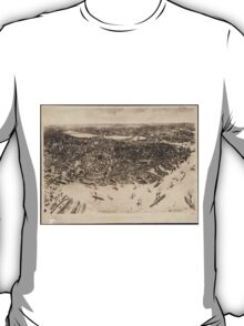 Vintage Pictorial Map of Boston (1905) (2)  T-Shirt