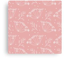 Retro pattern with fennel flowers Canvas Print