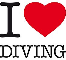 I ♥ DIVING Photographic Print