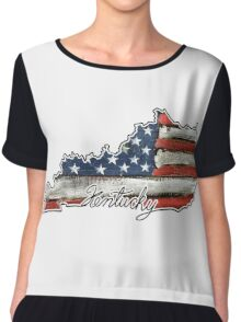 Kentucky State Outline Chiffon Top