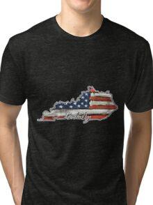 Kentucky State Outline Tri-blend T-Shirt