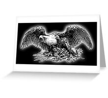 War Eagle, USA, America, American, Library of Congress, on black Greeting Card