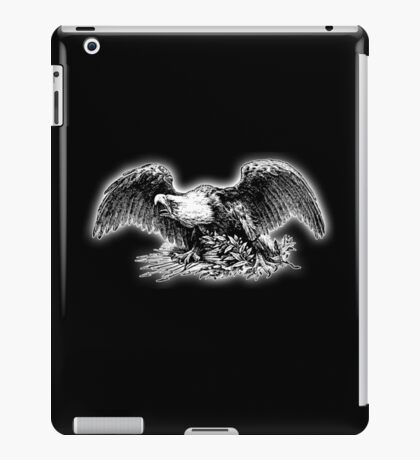 VINTAGE, War Eagle, cool, retro, USA, America, American, Library of Congress, on black iPad Case/Skin