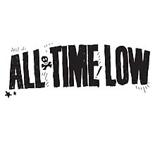 all time low skull logo Photographic Print