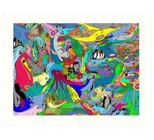 Aquatic life  Art Print