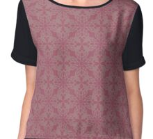 Snowflake Abstract Background Chiffon Top