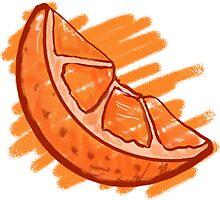 Fruit Patterns Blood Orange  by ImagineThatNYC