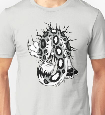 STUCK - Snow Leopard / Schneeleopard BACK Unisex T-Shirt