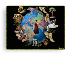 ✿◕‿◕✿  ❀◕‿◕❀    ❁◕‿◕❁Planet Earth. Isn't she Beautiful?  PICTURE,- CARD ✿◕‿◕✿  ❀◕‿◕❀    ❁◕‿◕❁ Canvas Print