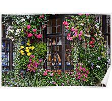 Floral Framed Window Poster