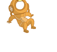 Lost Little Diver Sticker