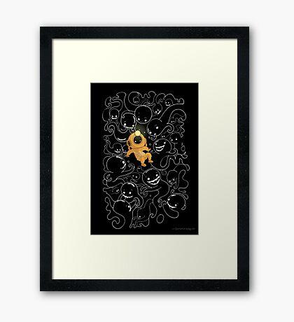 Lost Little Diver Framed Print