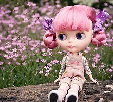 Summer Blythe in the garden - landscape version by Zoe Power