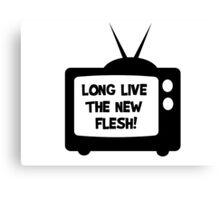 Long Live The Flesh Movie Quotes David Cronenberg Videodrome Snuff Film Cool T-Shirts Canvas Print