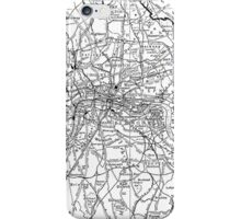 Vintage Map of London England (1911) iPhone Case/Skin