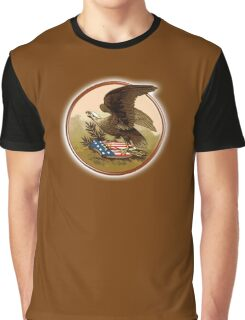 AMERICAN, Antique, Flag, War Eagle, USA, Shield, Symbol,  Historic, Old, America, American Graphic T-Shirt