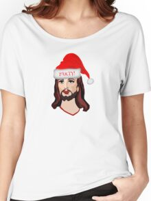 Jesus Christ Merry Christmas Santa Claus Happy Birthday Holidays Happy New Year T-Shirts Women's Relaxed Fit T-Shirt