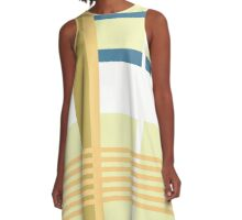 """Vintage girl on the summer"" color studio by MrN A-Line Dress"