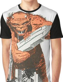 A monster destroying a city vintage comic pop art Graphic T-Shirt