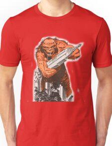 A monster destroying a city vintage comic pop art Unisex T-Shirt