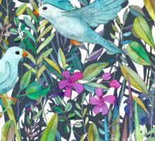 Little Garden Birds in Watercolor Sticker
