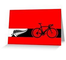 Bike Stripes New Zealand v2 Greeting Card
