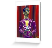 Zombie Magician Greeting Card
