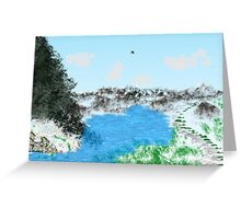 Morning View Landscape Greeting Card