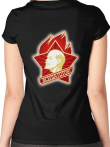 Vladimir, LENIN, RUSSIA, USSR, Communist, Soviet Union, All Union Pioneer Organization Women's Fitted Scoop T-Shirt