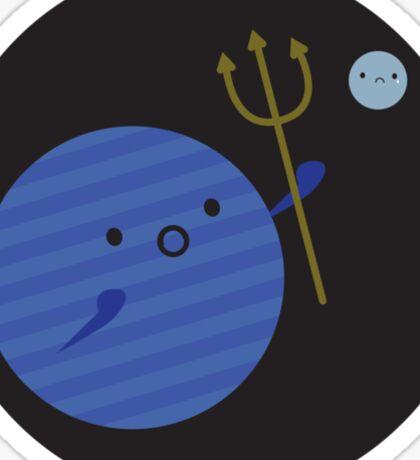 Neptune and Pluto Sticker