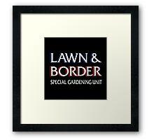 Lawn & Border Framed Print