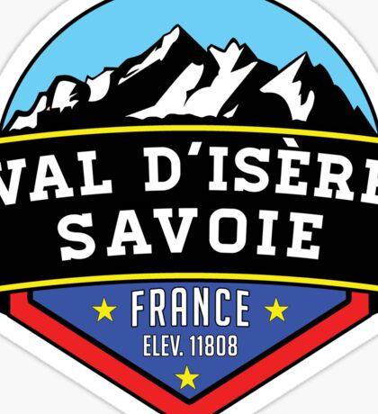 Val d'Isere France Skiing SAVOIE TARENTAISE VALLEY Ski Snowboard Mountain Silhouette Skis 2 Sticker