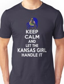 Keep calm and let the Kansas girl handle it Unisex T-Shirt