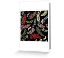 Dark Autumn Pattern Greeting Card