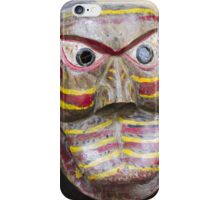 wooden mask iPhone Case/Skin