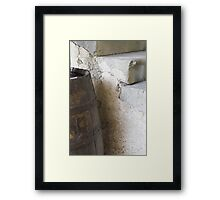 Old barrel for wine Framed Print