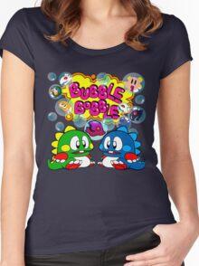 Bubble Bobble Retro Women's Fitted Scoop T-Shirt